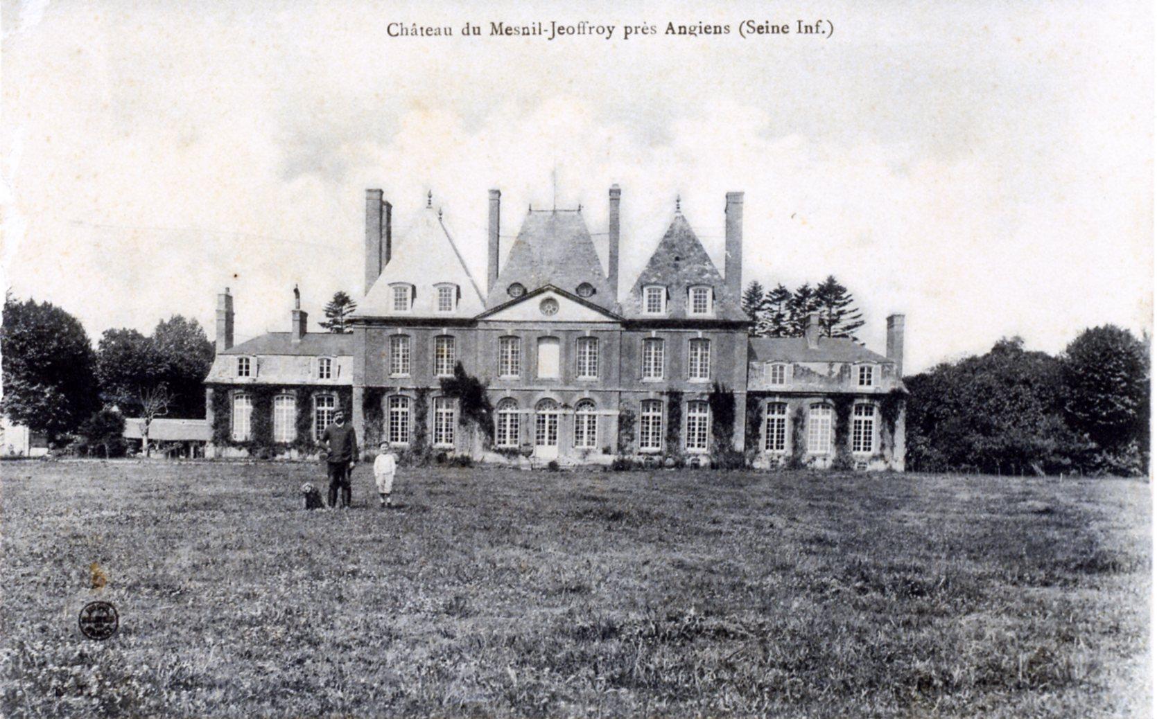 Château de mesnil Geoffroy en 1910