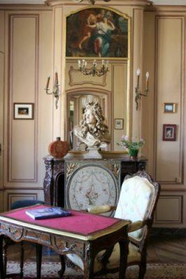 Le fumoir du Château de mesnil Geoffroy