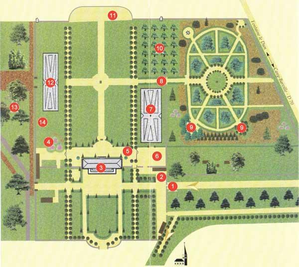 Plan du domaine de Mesnil Geoffroy