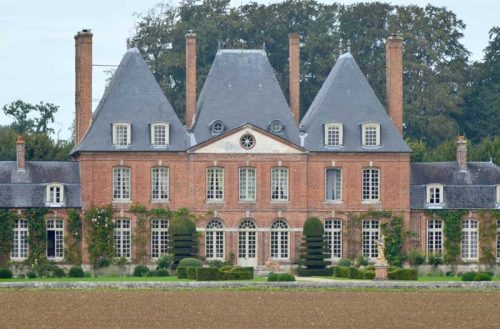 Château de mesnil Geoffroy Façade Est